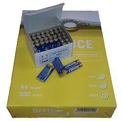 Tužkové baterie zdarma kekancelářskému papíru