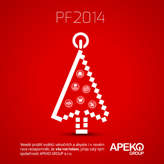 Veselé prožití svátků vánočních aabyste ivnovém roce nezapomněli, že vše má řešení, přeje celý tým společnosti APEKO GROUP s.r.o.